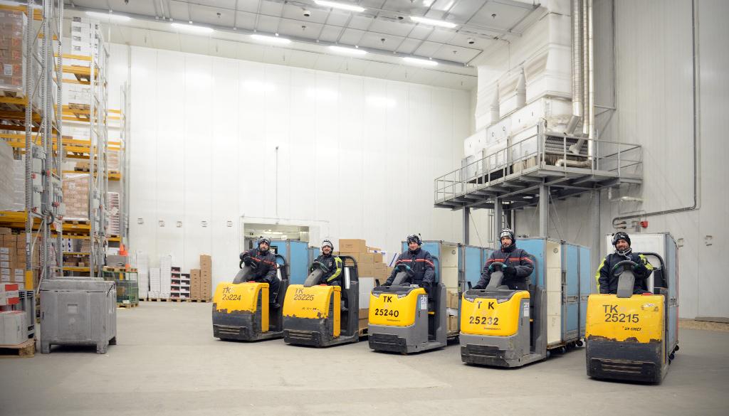 Deep-freeze warehouse